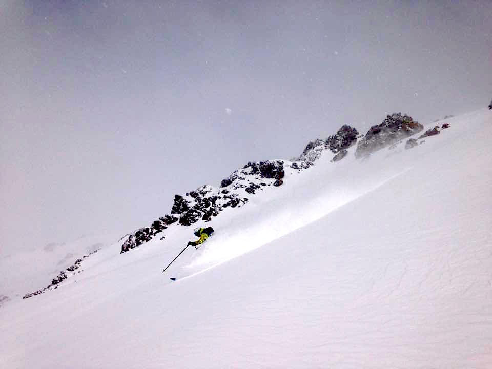 Pow skiing on Nubes today.