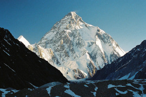 K2, Earth's 2nd highest peak.  1 in 4 people who summit this peak do not survive.