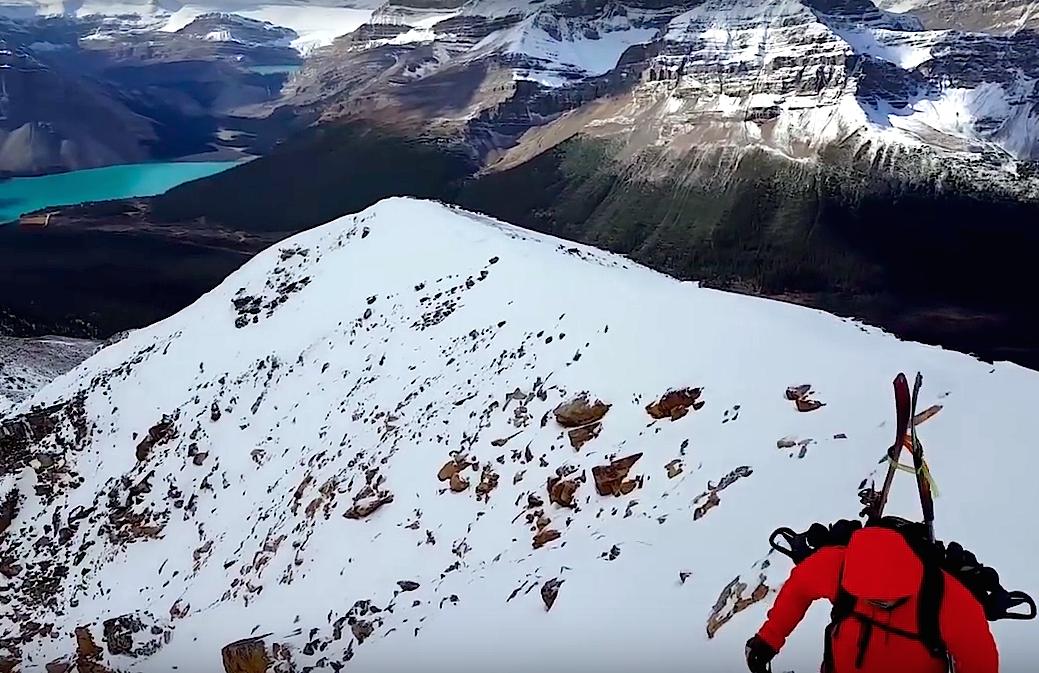 obervation subpeak, canada snowboard mountaineerin