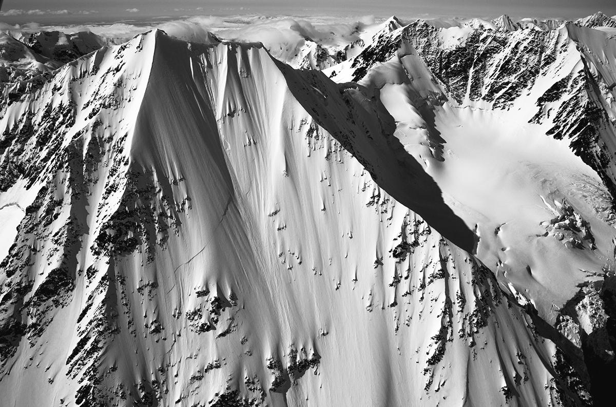 "Mt. Timlin in the eastern Alaska Range. This is the peak they rode in Jeremy Jones' ""Further"". photo: flytokair.com"