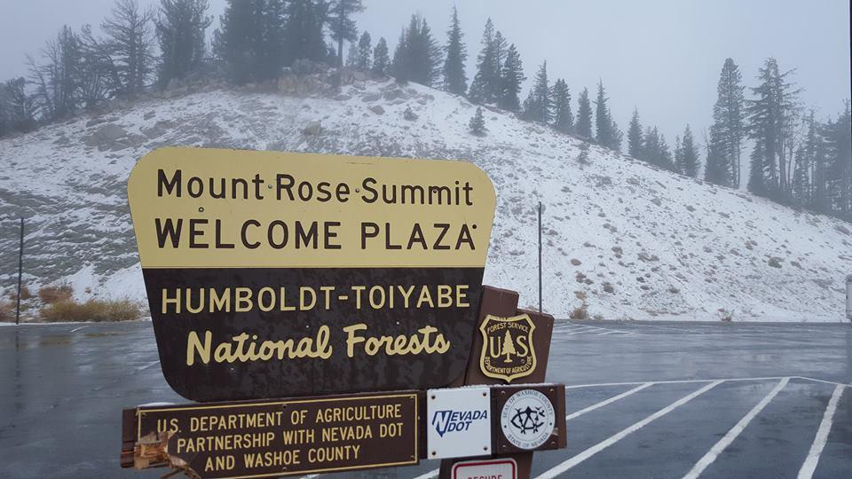 Mt. Rose summit in Lake Tahoe today.