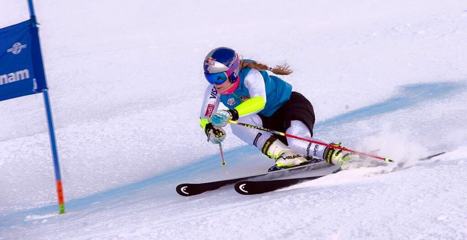 Linsdey Vonn racing in Soelden, Austria this week. photo: her Facbook