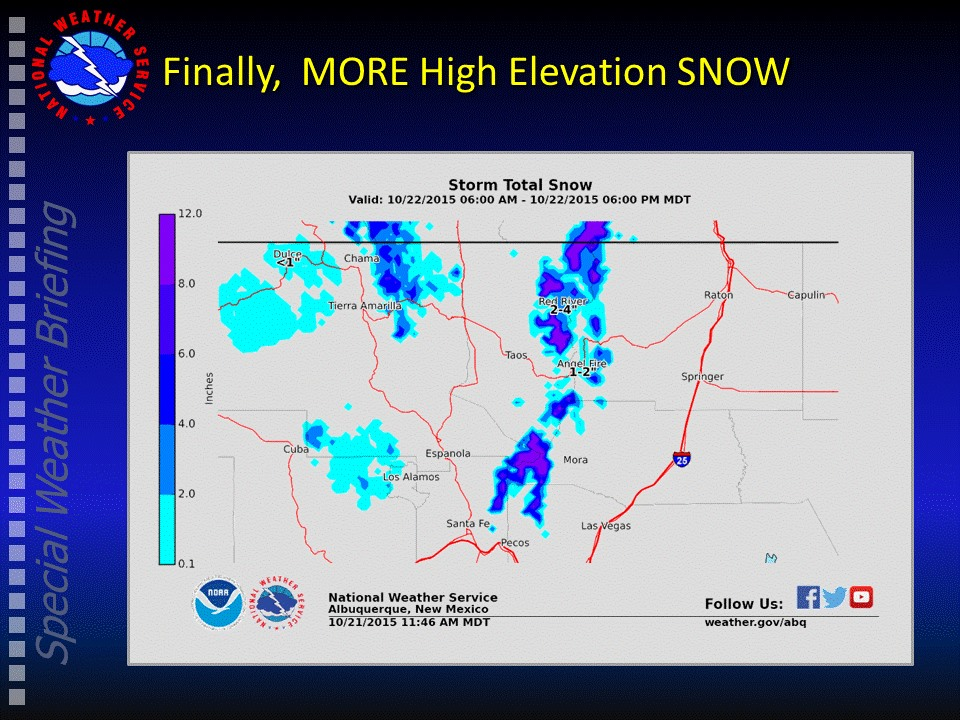 Forecasted snowfall totals for New Mexico