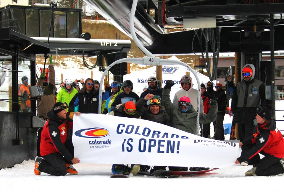 Loveland, CO's first chair of the season this am.