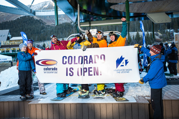 Arapahoe Basin first chair of the season today! photo: abasin