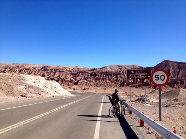 Biking to Valle de la Muerte from San Pedro