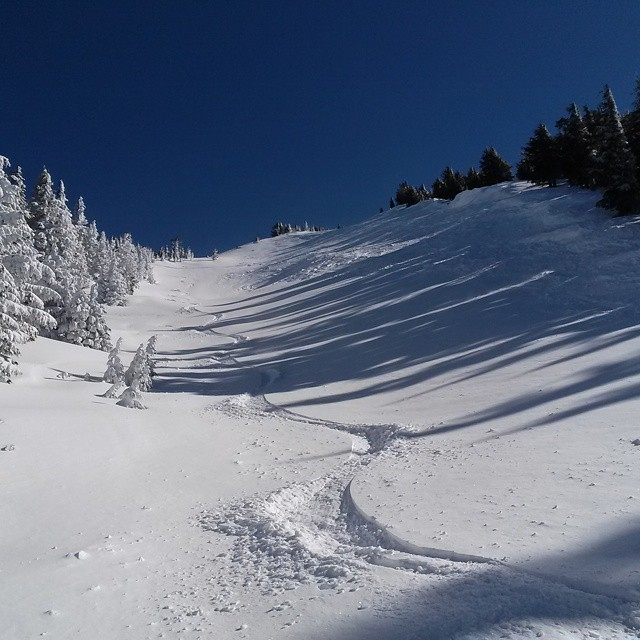 Runs like Devils Backbone are just one of the many reasons you want to head for Northwest when the skiing is good.