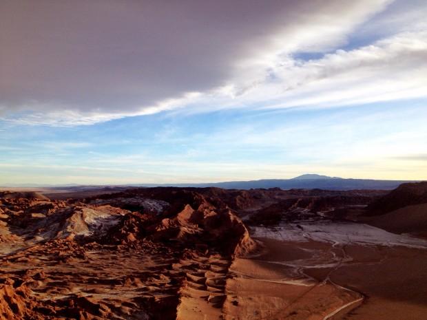 Valle de la Muerte at sunset