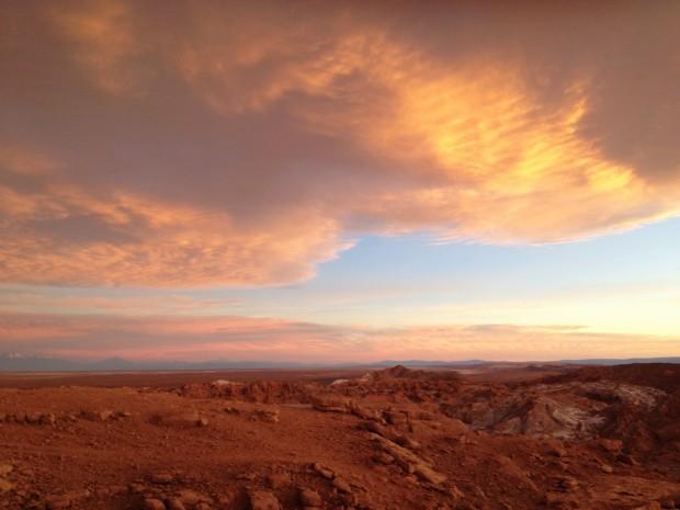 Sunset over Valle de la Muerte