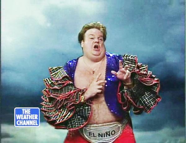 Chris Farley calmly explaining El Nino.