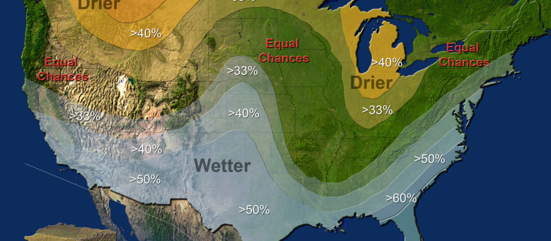 NOAA's official winter precipitation outlook for the usa in 2015/16