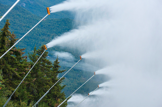 Sunday River tested their snowmaking on Sept. 22nd, 2015.