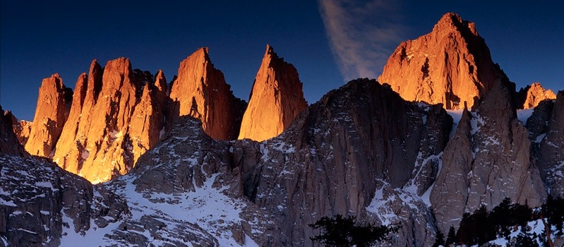 14,495-foot Mt. Whitney, CA. photo: galen rowell