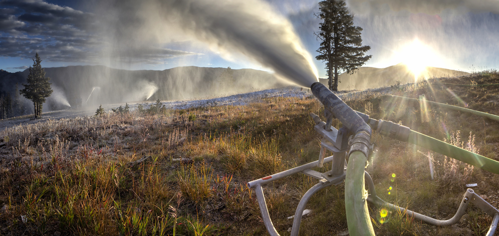 Snowmaking began at Copper Mountain, CO yesterday morning. photo: Tripp Fay/Copper Mountain Resort