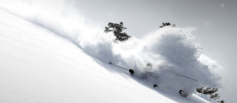 Jamie Blair smashing a turn on KT-22 at Squaw Valley, CA in 2011. photo: casey cane