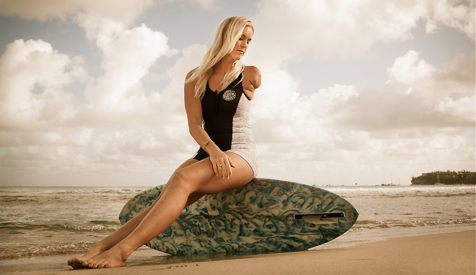 Bethany Hamilton was attacked by a Tiger Shark surfing in Hawaii and lost her arm in 2003 and became a professional surfer anyway.