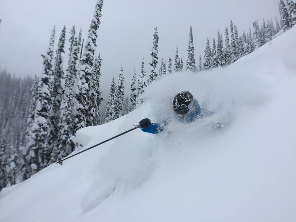 Revelstoke, B.C. on Nov. 12th, 2015. Skier: Christina Lusti PC: Sean Cochrane