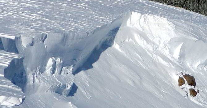 12-15' deep avalanche over the weekend in Summit County, CO. photo: crested butte avalanche center