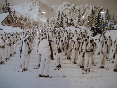 10th Mountain Division training at Mt. Rainier, WA