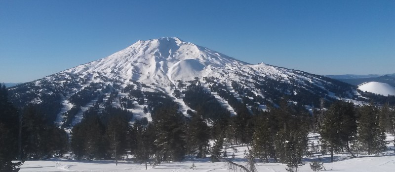 Mt. Bachelor from the top of Tumalo Mountain today.