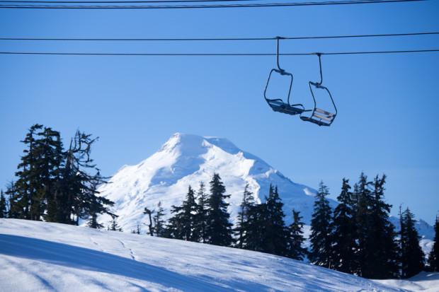 Great blue sky views of Mt. Baker proper!
