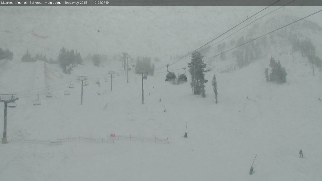 Mammoth main lodge today at 10am.