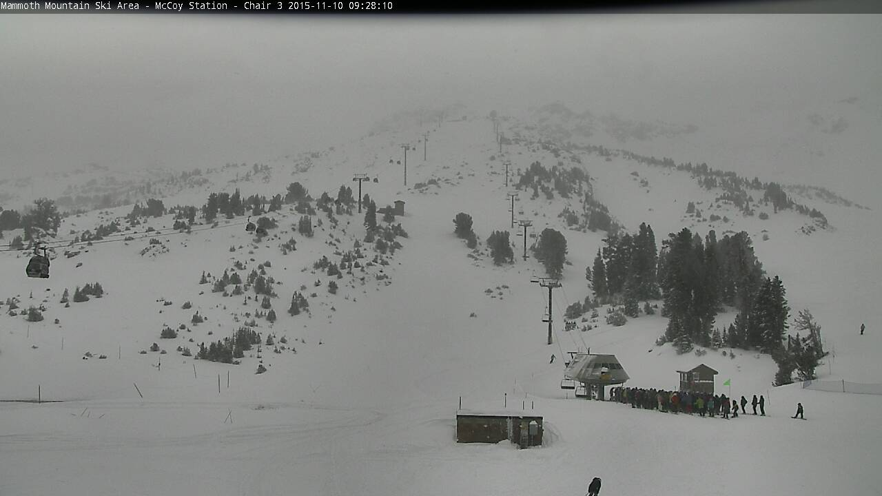 Mammoth chair 3 today at 10am.
