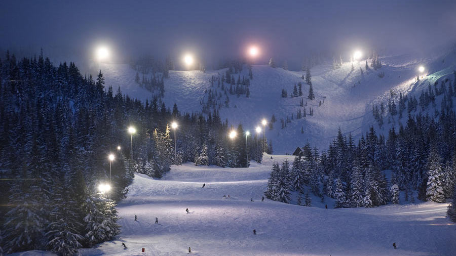 Mt. Hood Ski Bowls famous night skiing