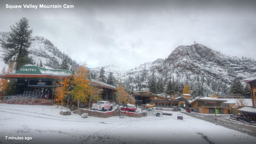 Squaw Valley base at 9am today.