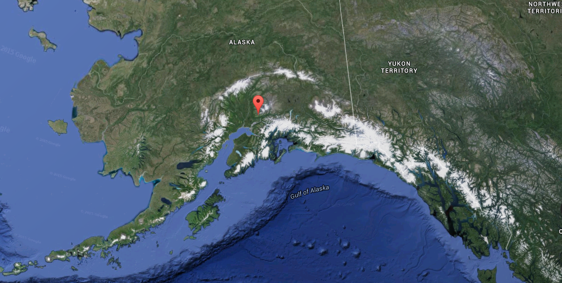 Map showing the location of Hatcher Pass, Alaska.