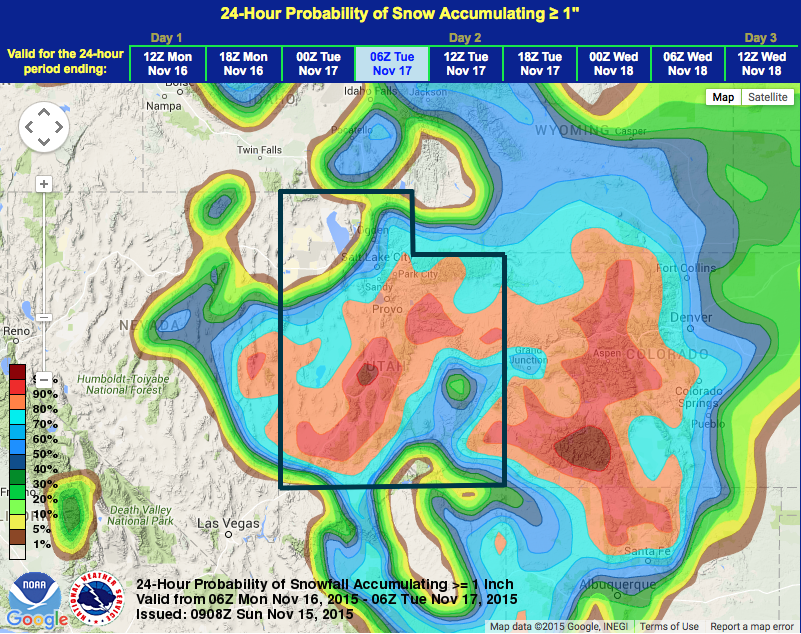 Noaa Winter Weather Advisory For Utah Today Tomorrow 7 14 Of