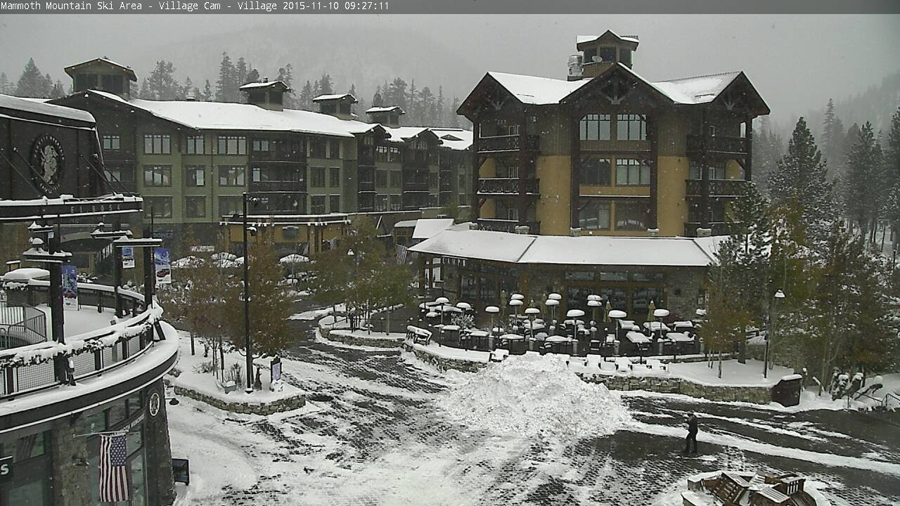 Mammoth village today at 10am.