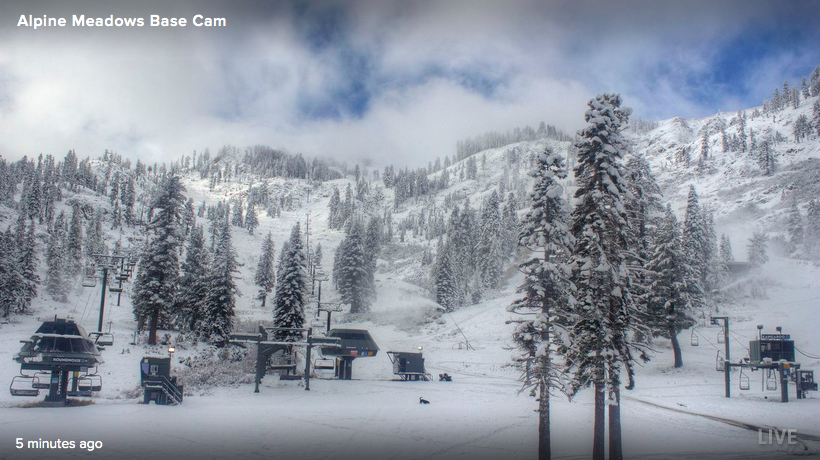 Alpine Meadows today at 9am.