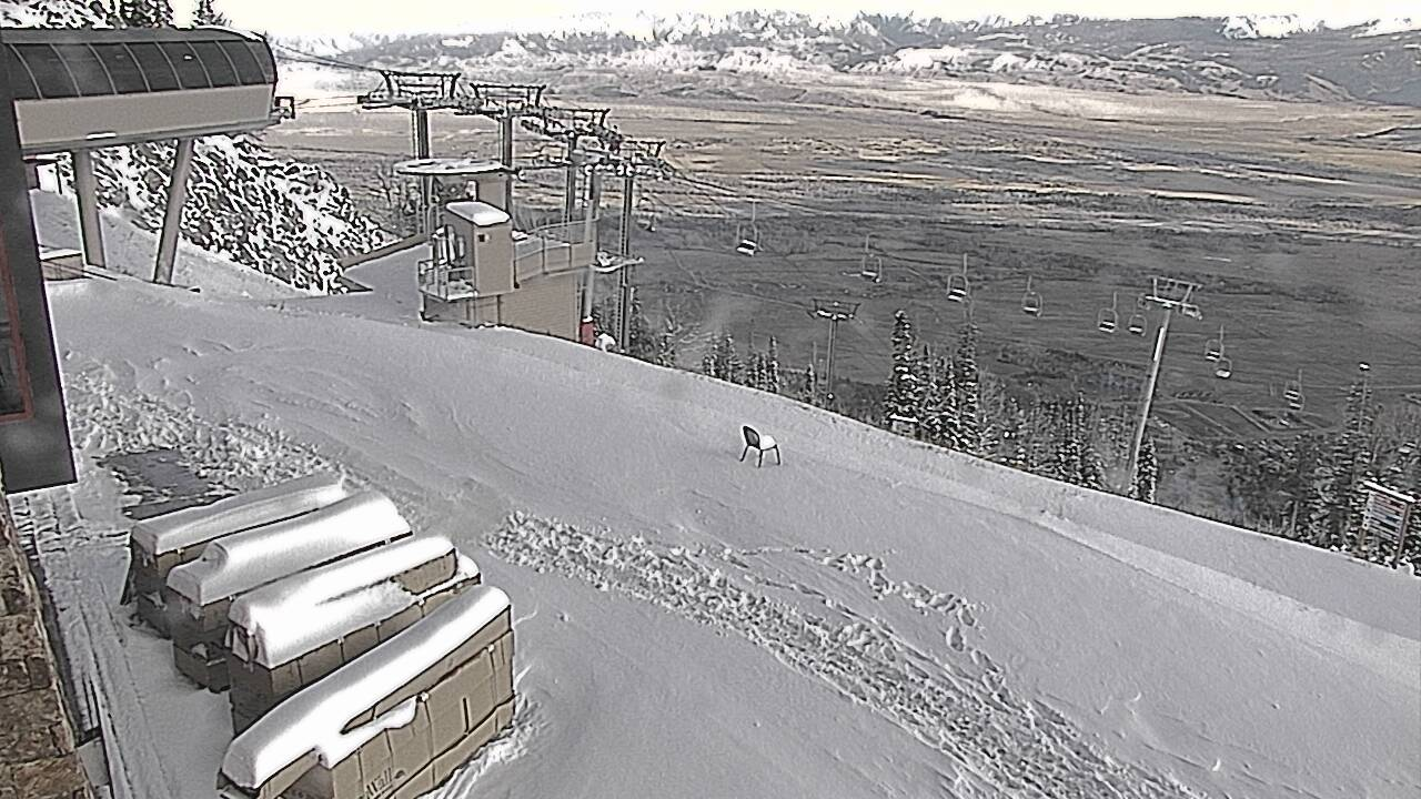 Jackson hole wy got a foot of new snow today up to 12 for The deck jackson hole