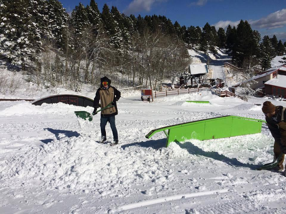 Park crew getting your Montana weekend fun ready to go! Photo: Great Divide Ski Area