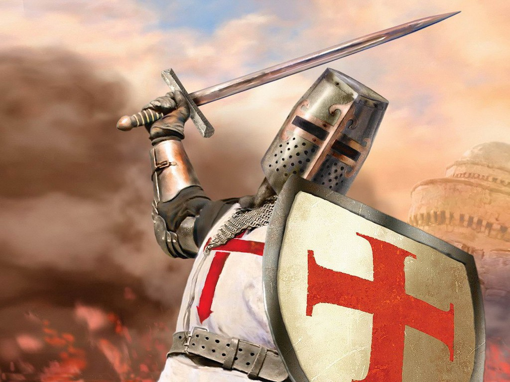 A knight of the Templar. Warrior Monk, Friday the 13th