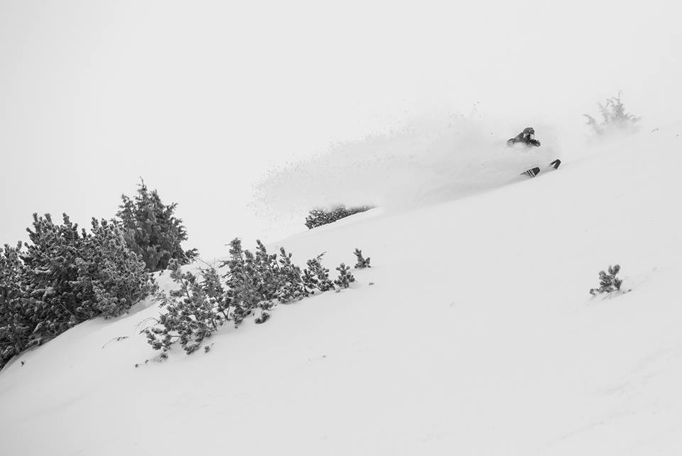 Chris Benchetler slashing Mammoth, CA today.  photo:  mammoth
