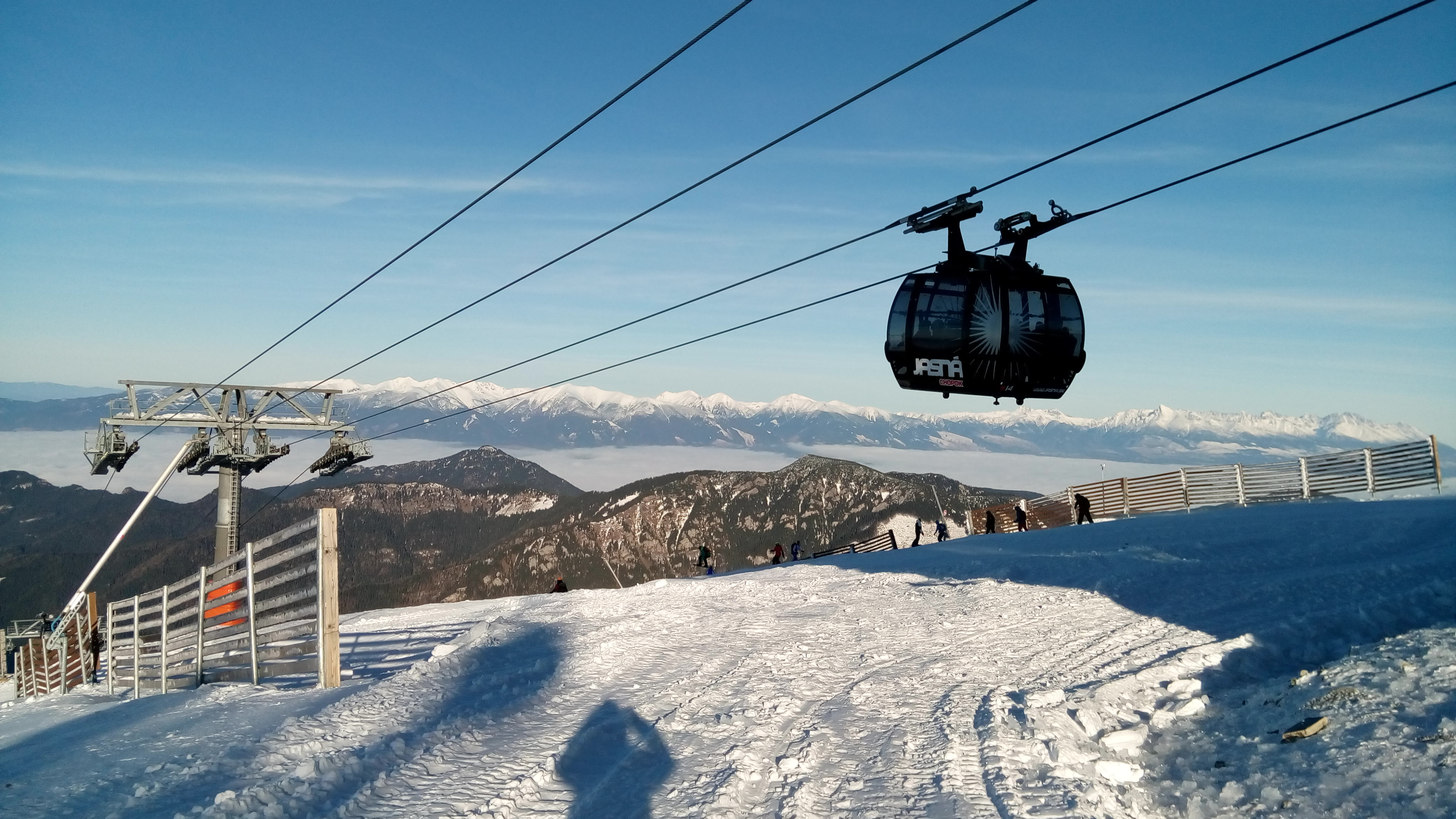 From the top of Funitel cable car