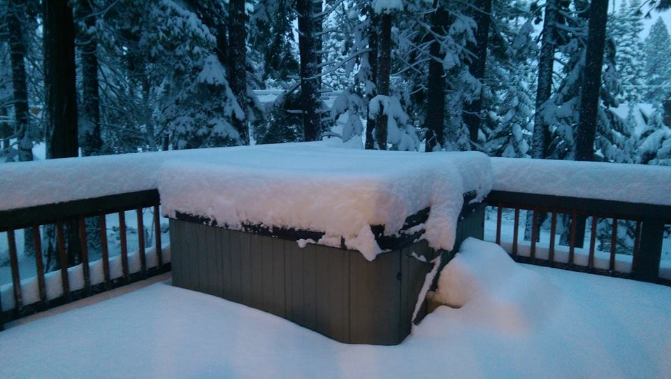 Tahoe City, CA today at 7am. photo: yimmers/snowbrains