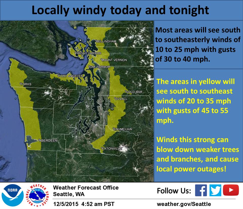 NOAA Winter Storm Warning For Washington TodayTomorrow - Weather seattle noaa