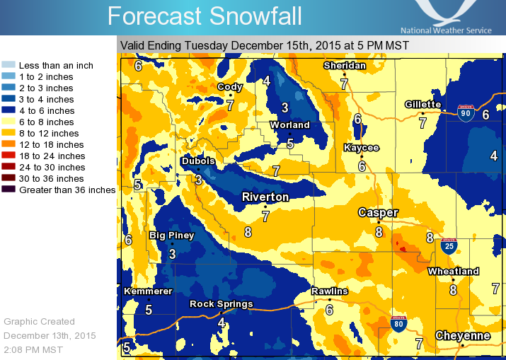 100 of wyoming is under winter advisory right now 10 14 of snowfall forecast map dull orange publicscrutiny Gallery