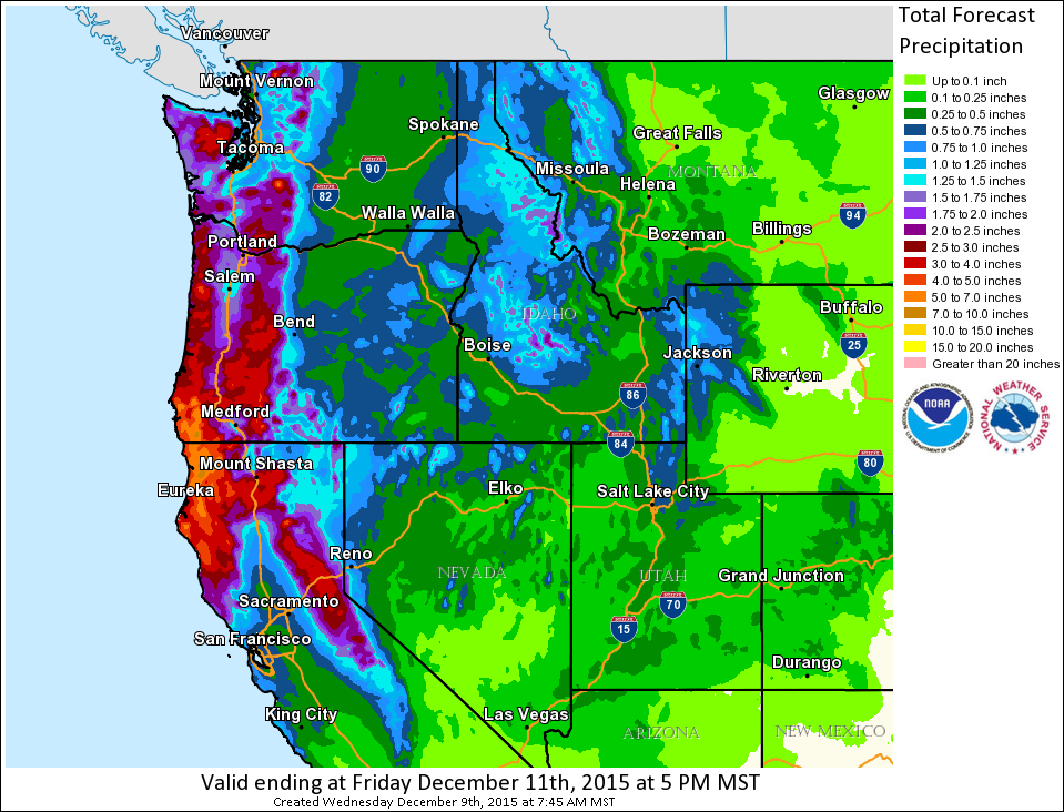 The west coast is about to get clobbered with precipitation