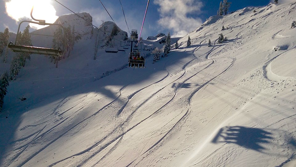 KT-22 opened for the season. photo from today. photo: yimmers/snowbrains