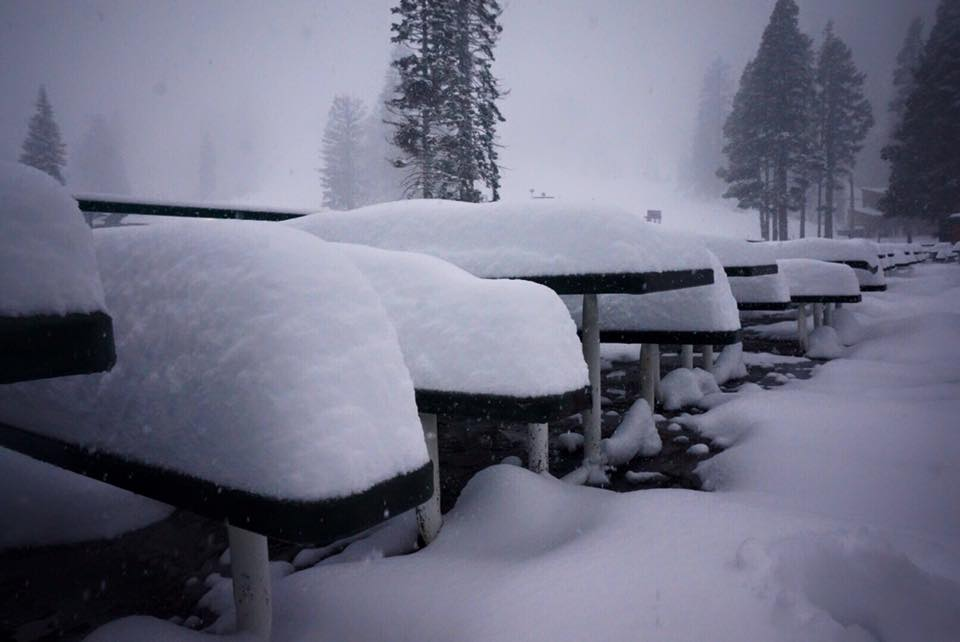 Squaw Valley, CA today at 8am. photo: squaw