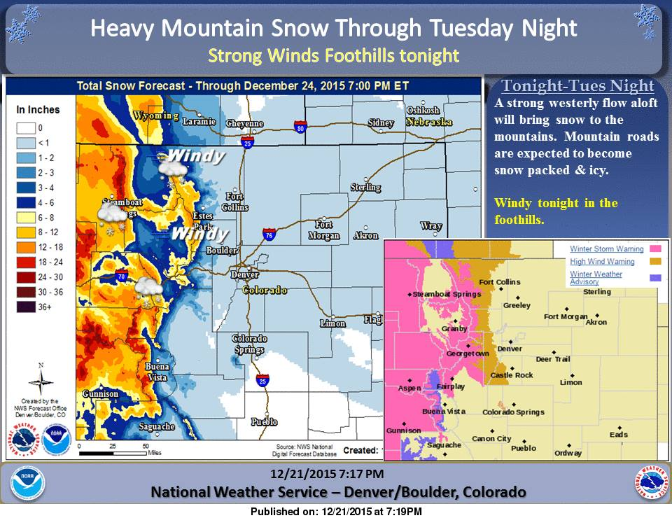 Damn Near All Of Colorado S Ski Resorts Under Winter Storm Warning 10 20 Quot Of Snow Forecast