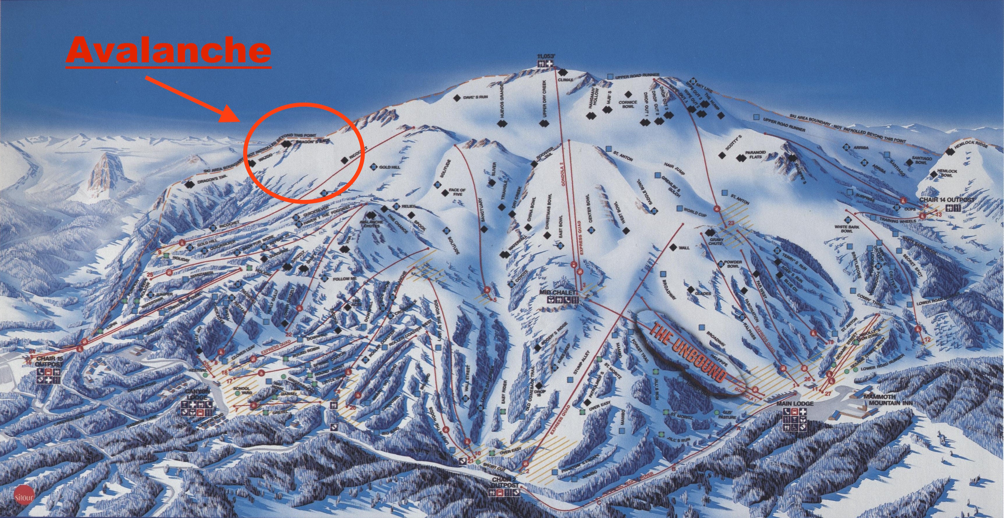 Skier Caught In In Bounds Avalanche At Mammoth Ca On Dec
