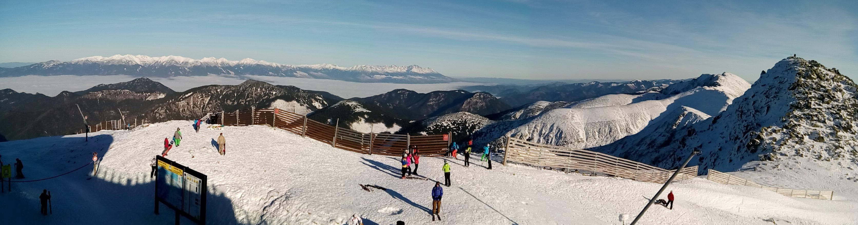 View of High Tatras from Low Tatras