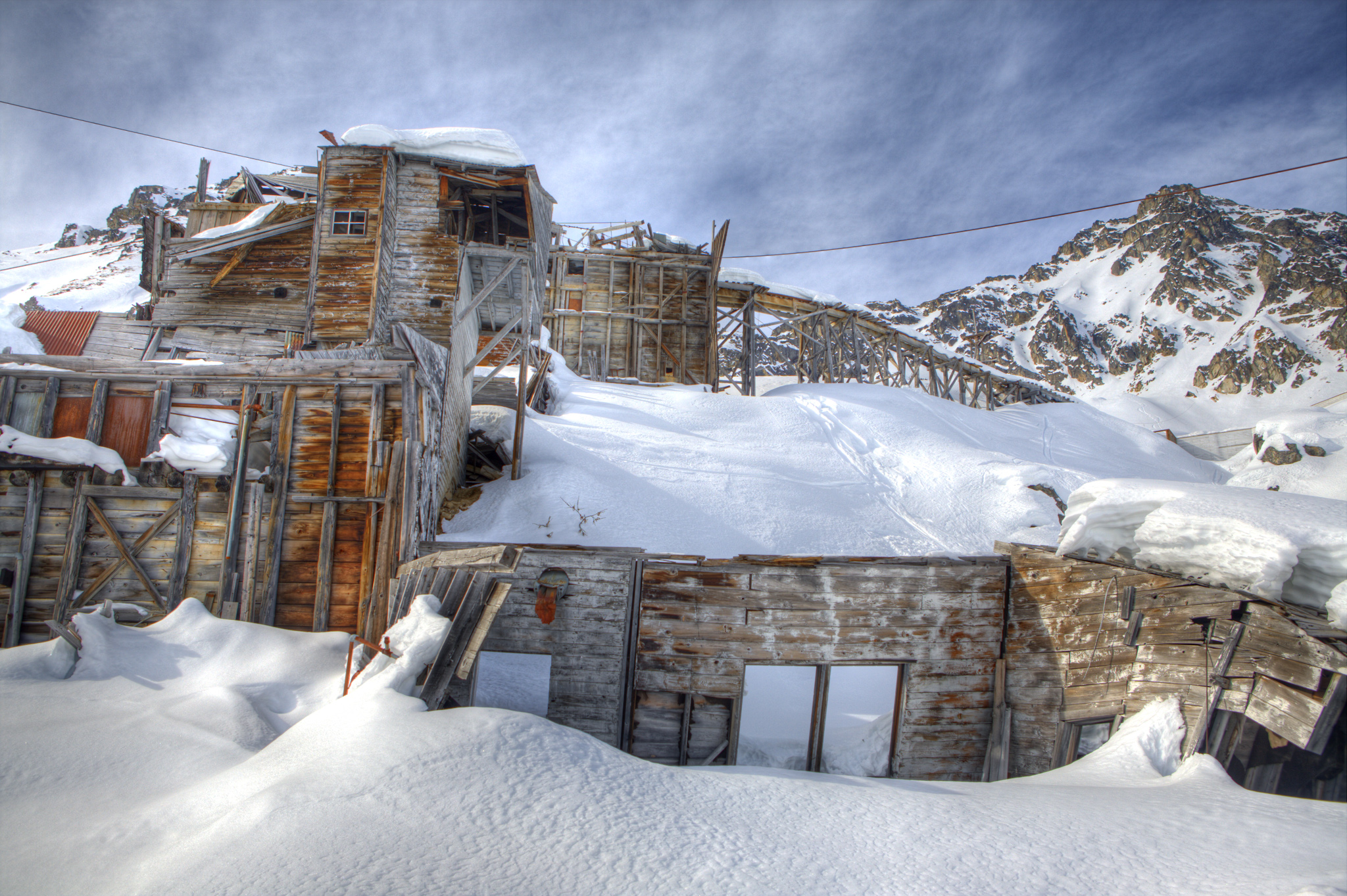 Hatcher Pass offers incredible views of whats left of the old mining operations.