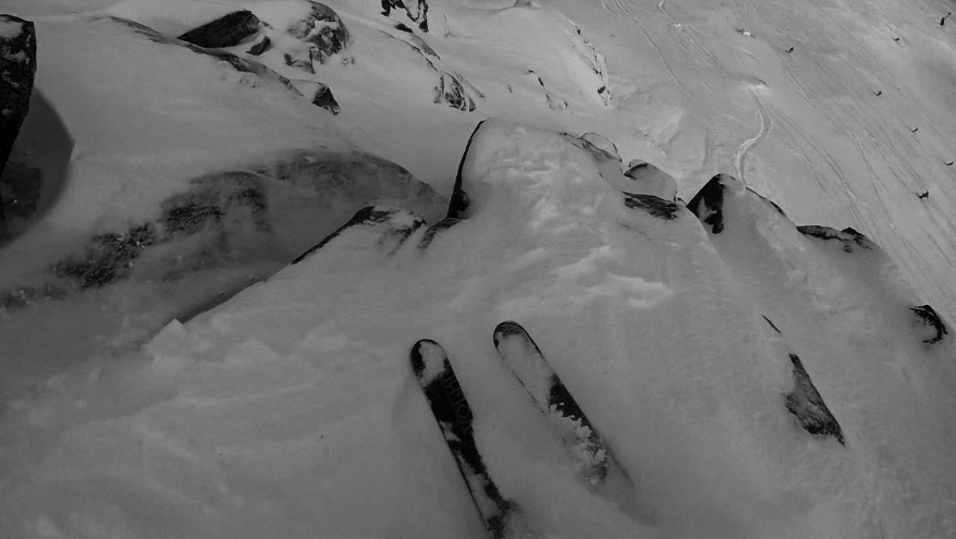 Getting into Shirley 2 in the Shirley Chutes