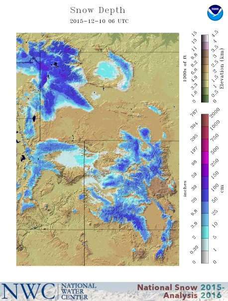 Snow depth in Wasatch today. image: nwc